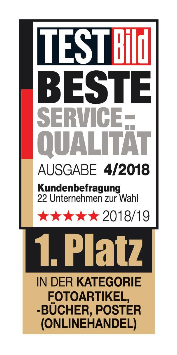 1. Platz beste<br /> Servicequalität