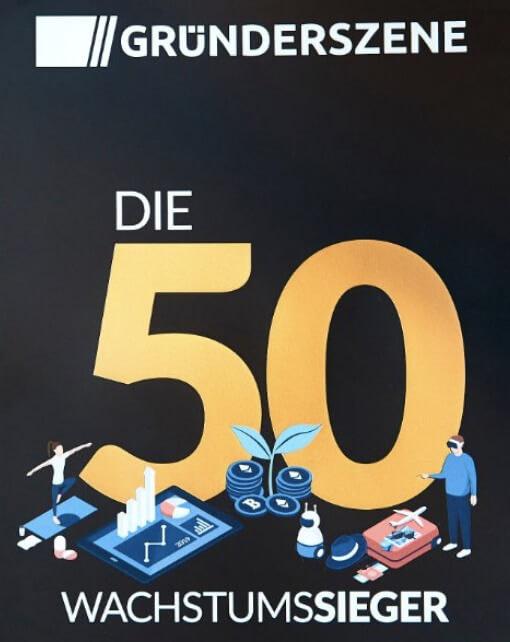 TOP 5 Gründerszene<br /> Wachstumsranking